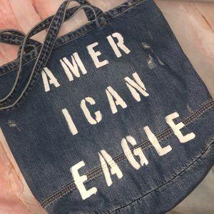 American Eagle denim tote